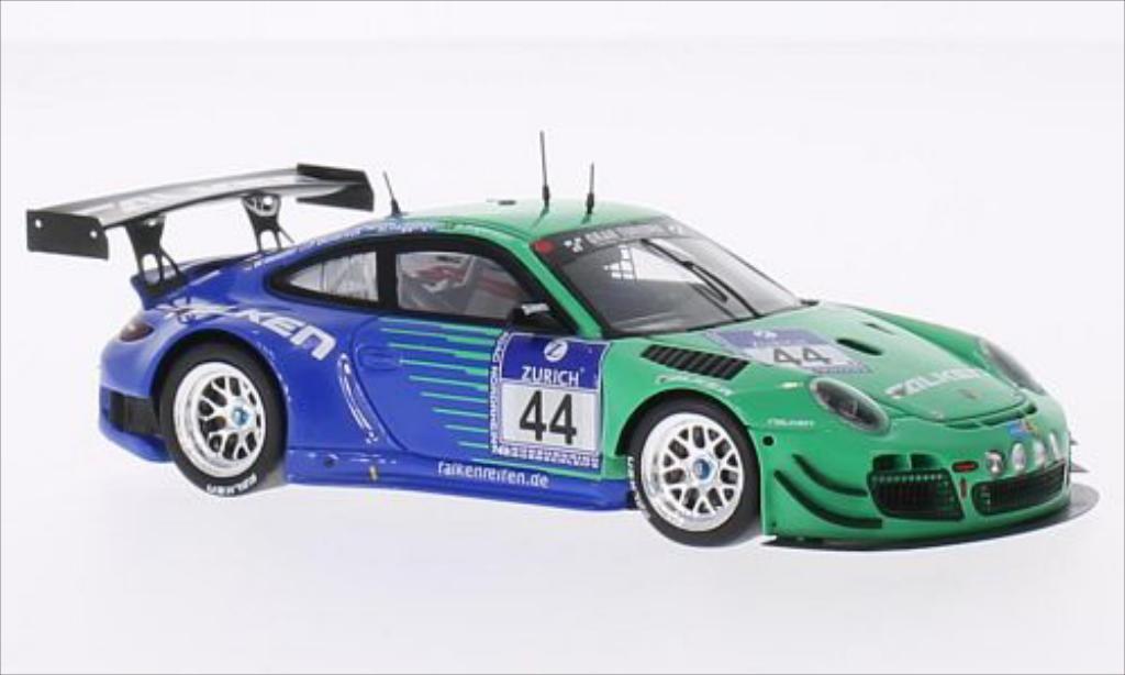 Porsche 997 GT3 1/43 Spark R No.44 Falken Motorsport Falken 24h Nurburgring 2014 /A.Imperatori diecast