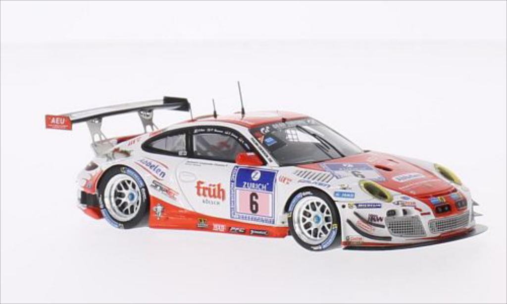 Porsche 997 GT3 1/43 Spark R No.6 Frikadelli Racing Team Fruh Kolsch 24h Nurburgring 2014 /P.Pilet diecast model cars