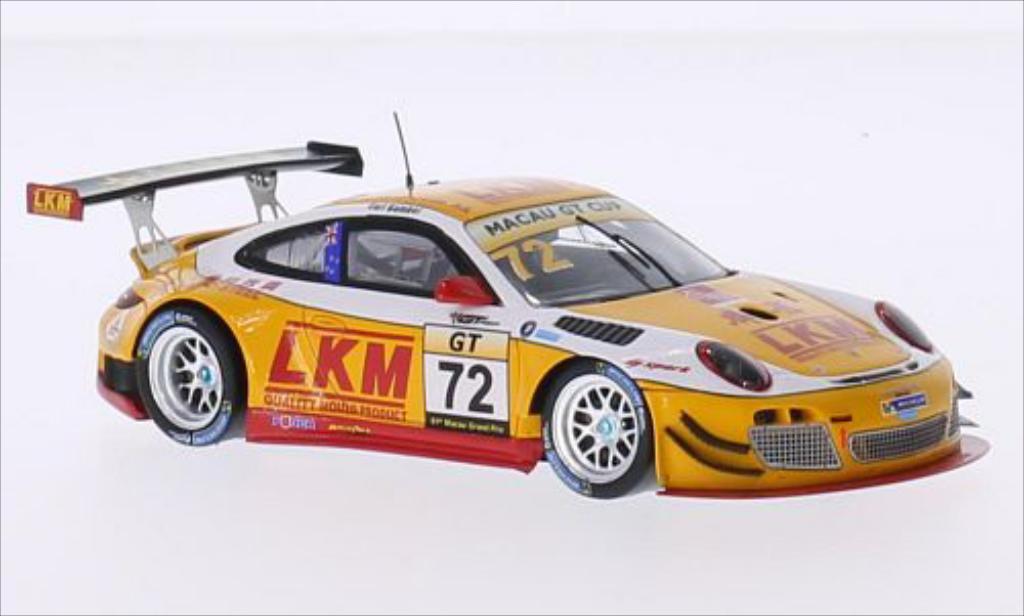 Porsche 997 GT3 1/43 Spark R No.72 LKM GT Cup GP Macau 2014 diecast