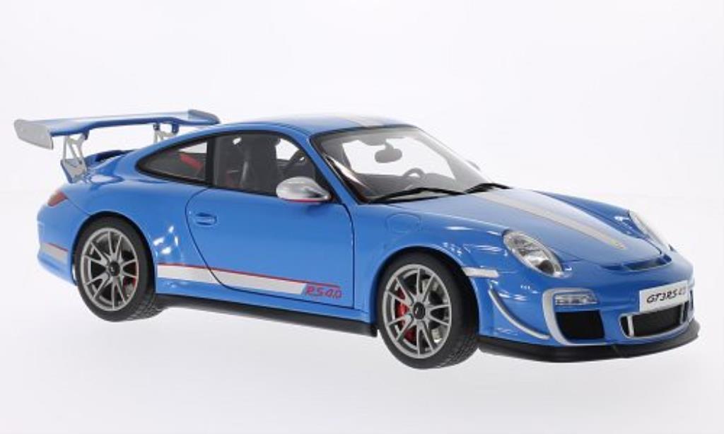Porsche 997 GT3 1/18 Autoart 4.0 bleu/grey 2011 diecast model cars