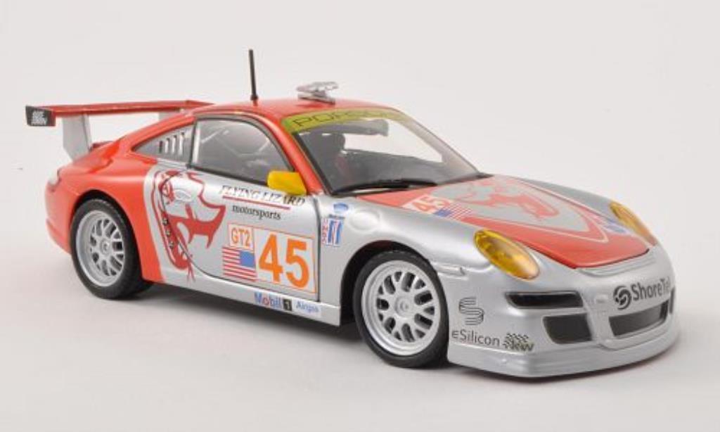 Porsche 997 GT3 1/24 Burago R No.45 Flying Lizard Motorsports ALMS miniatura