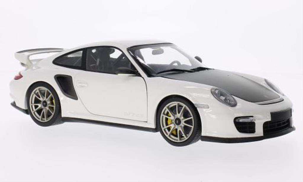Porsche 997 GT2 1/18 Minichamps white 2010 diecast model cars