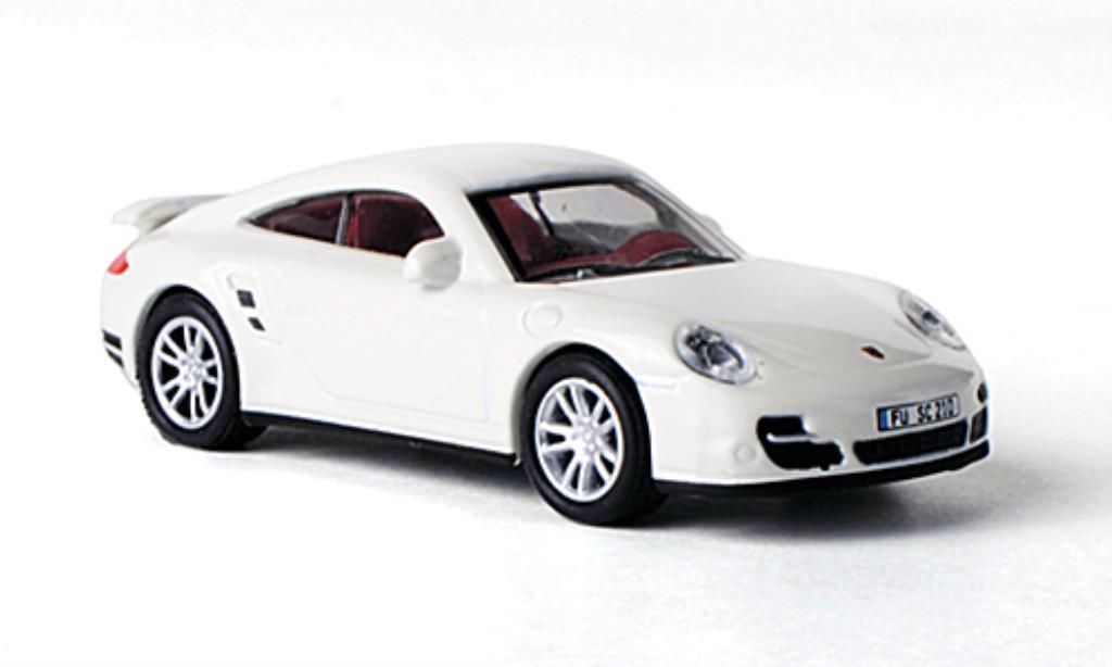 Porsche 997 Turbo 1/87 Schuco white diecast model cars