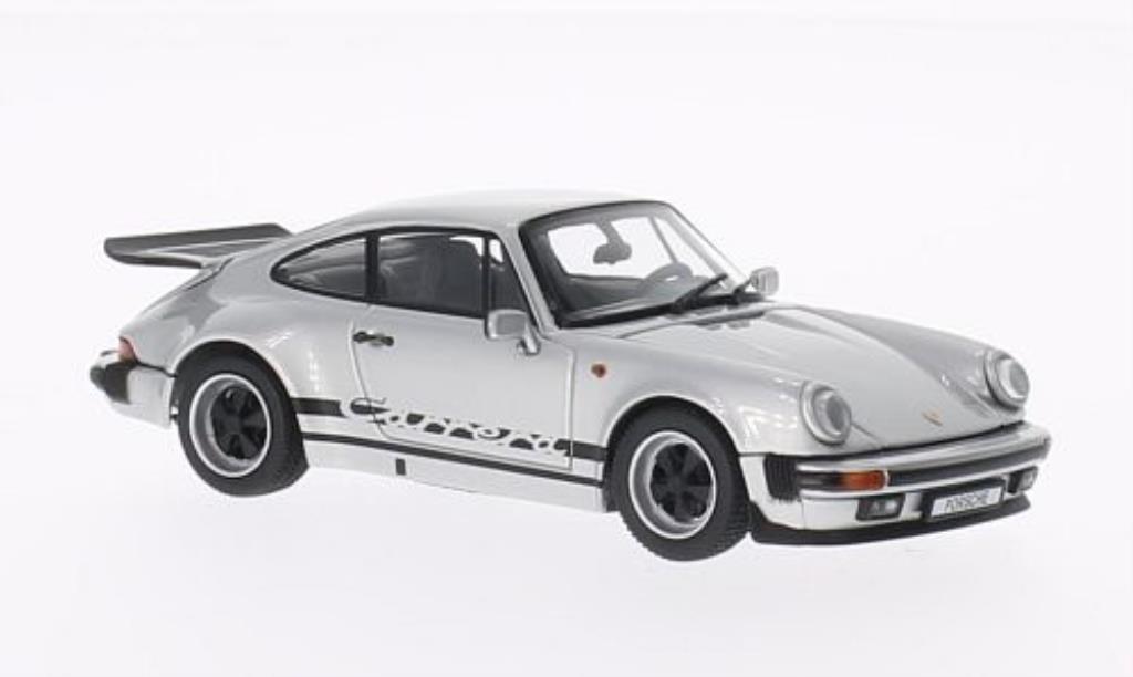 Porsche 930 1/43 Kyosho Carrera 3.2 grise mit noireer Dekoration 1975