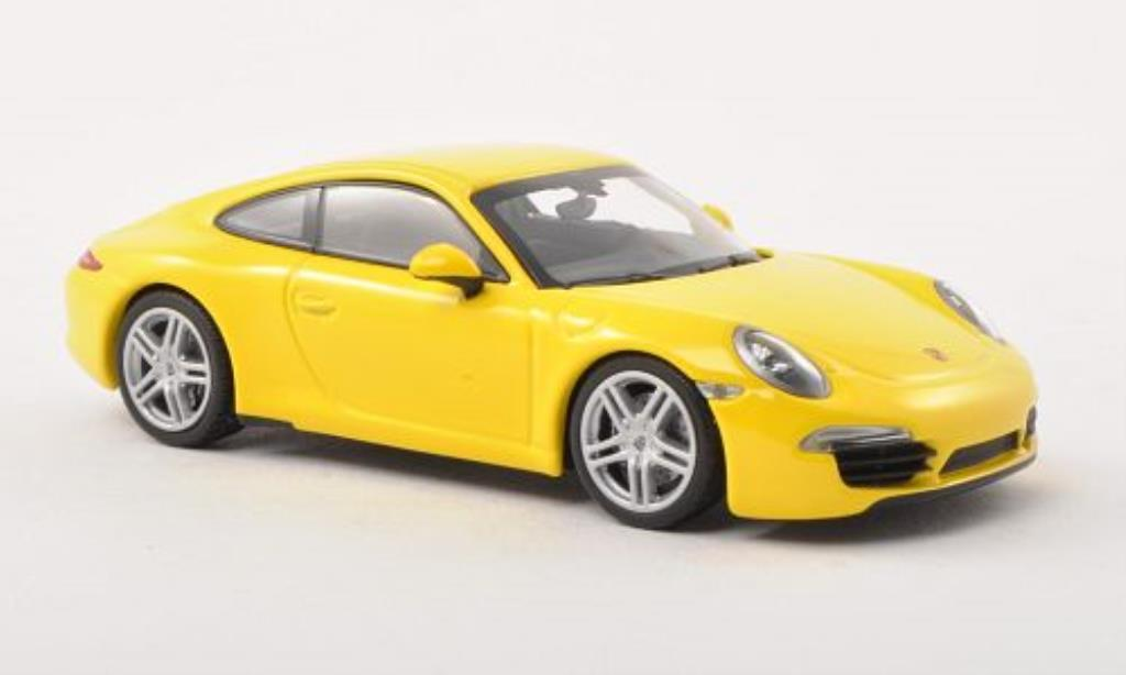 Porsche 991 Carrera 1/43 Minichamps yellow 2012 diecast
