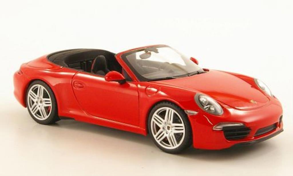 Porsche 991 Carrera 1/43 Minichamps Cabriolet red 2011 diecast