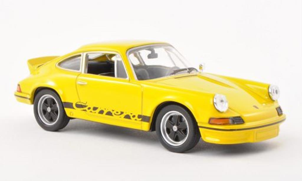 Porsche 911 1/43 Welly Carrera  2.7 yellow/black 1973 diecast