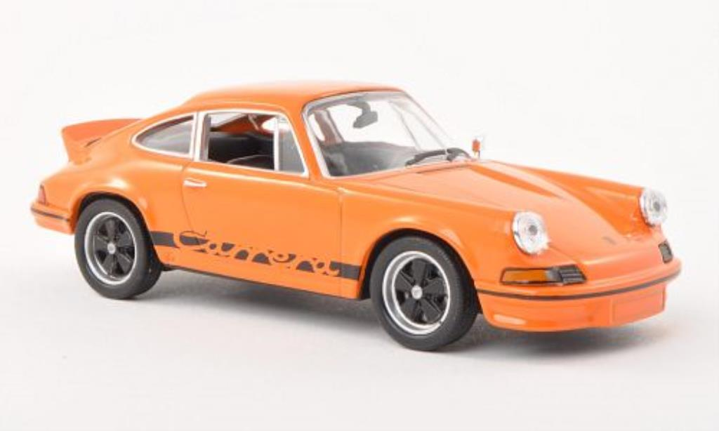 Porsche 911 1/43 Welly Carrera  2.7 orange/noire 1973 miniature