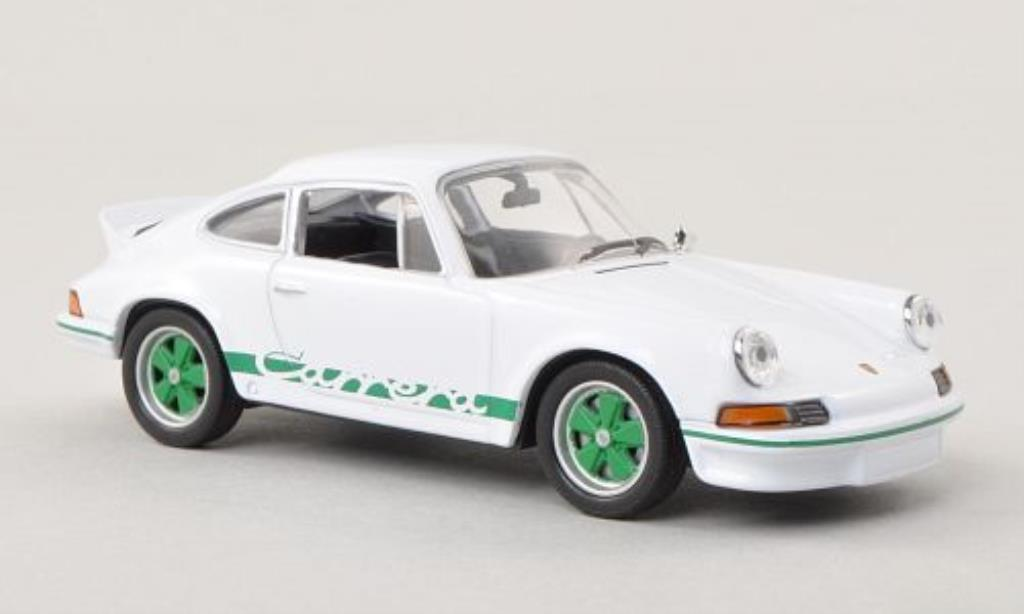 Porsche 911 1/43 Welly Carrera 2.7 blanche/grun 1973 miniature