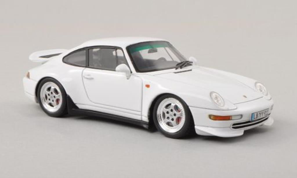 Porsche 993 Carrera 1/43 Spark  Coupe bianca 1995 miniatura