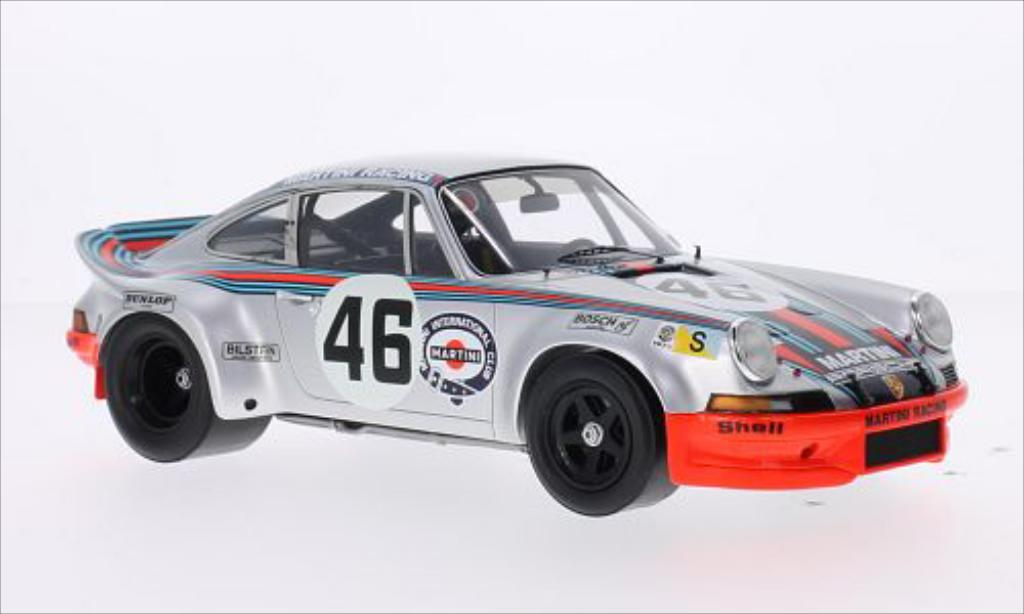 Porsche 911 1/18 Spark Carrera R No.46 Martini Racing Martini 24h Le Mans 1973 diecast model cars