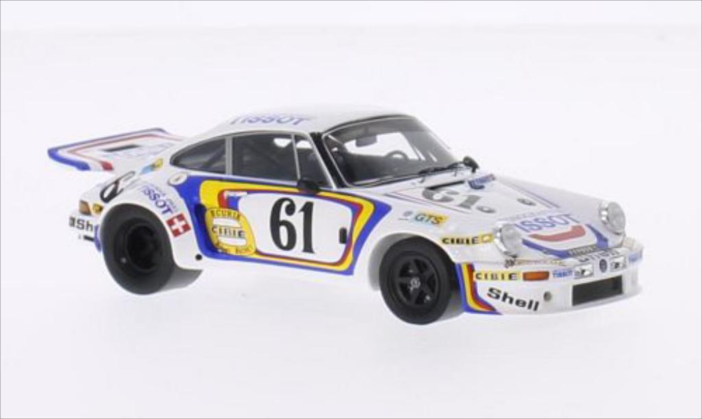 Porsche 930 1/43 Spark Carrera R No.61 Ecurie Cibie Tissot 24h Le Mans 1974 miniature