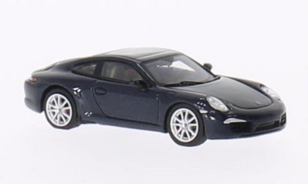 Porsche 991 Carrera 1/87 Minichamps S bleu 2011 miniature