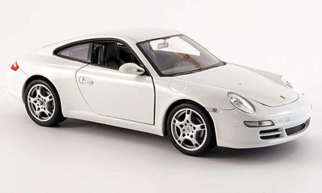 Porsche 997 Carrera 1/24 Welly S blanche miniature