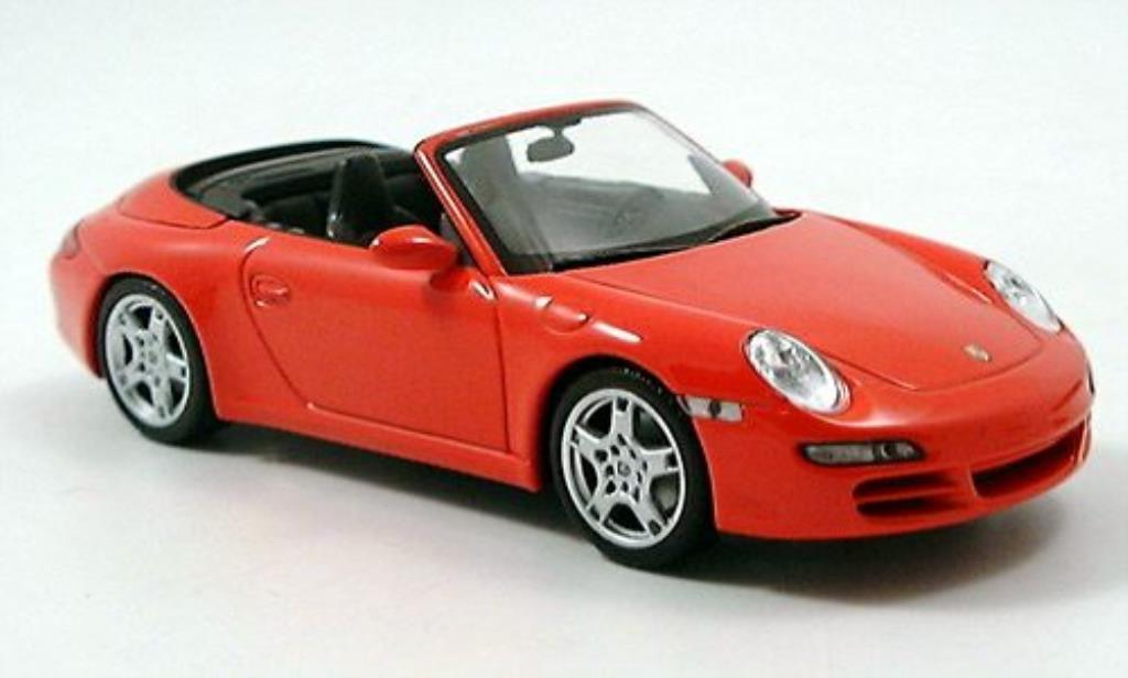 Porsche 997 Carrera 1/43 Minichamps S Cabriolet rouge 2004 miniature