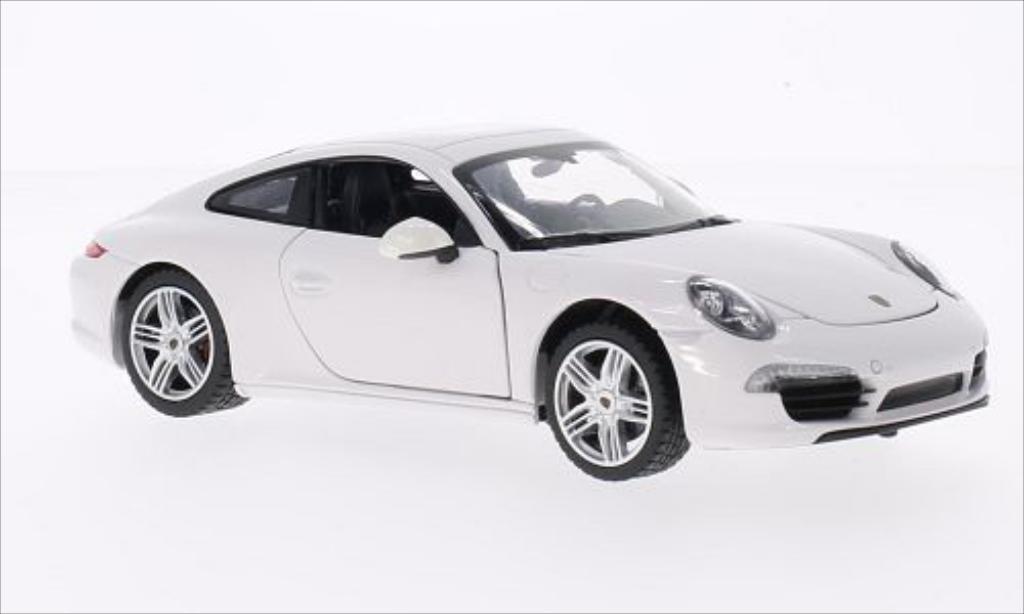 Porsche 911 1/24 Rastar Carrera S blanche miniature