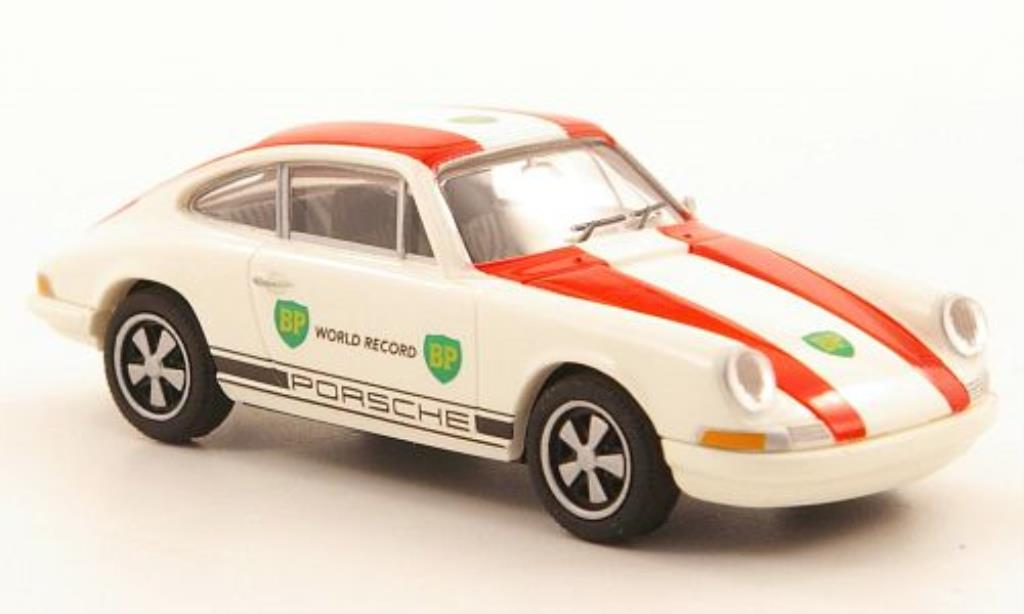 Porsche 911 1/87 Brekina Coupe BP World Record miniature