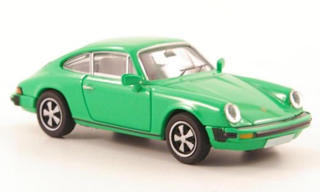 Porsche 911 1/87 Brekina Coupe (G-Reihe) grun diecast model cars