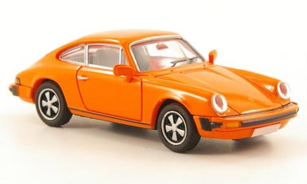 Porsche 911 1/87 Brekina Coupe (G-Reihe) orange miniature