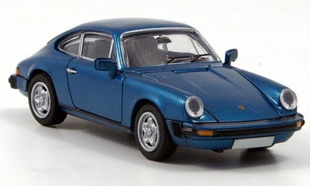 Porsche 911 1/87 Brekina Coupe bleu modellautos