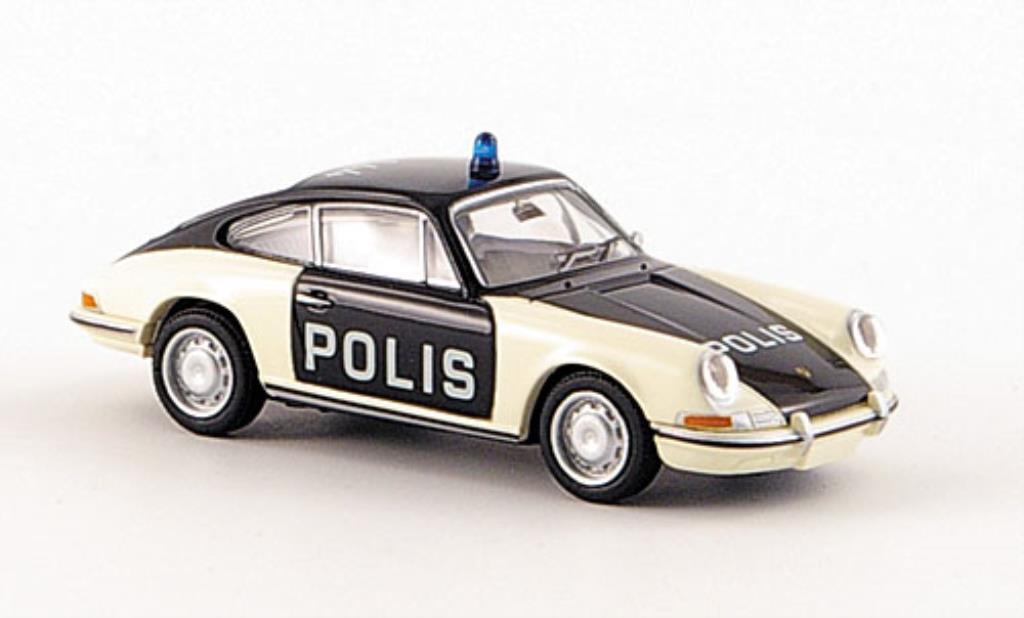 Porsche 911 1/87 Brekina Coupe Polis Polizei diecast