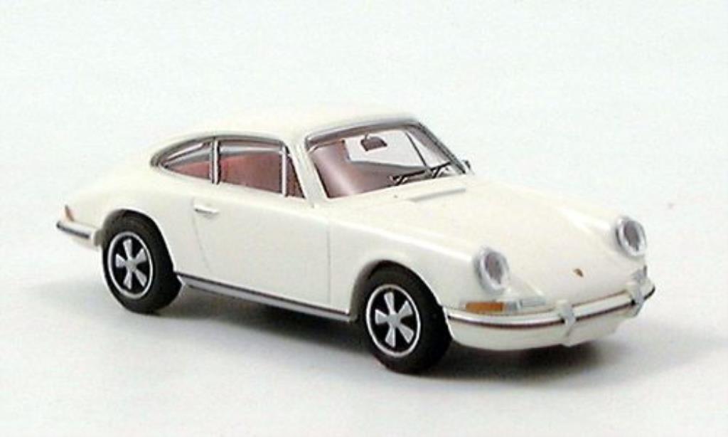 Porsche 911 1/87 Brekina E blanche 1970