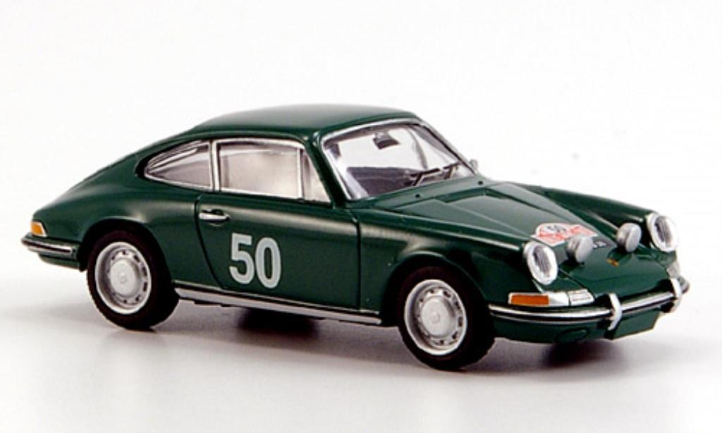 Porsche 911 1/87 Brekina green Rallye Monte Carlo 1966 diecast