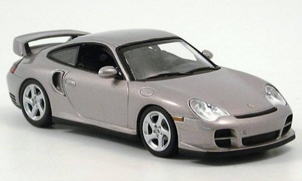 Porsche 996 GT2 1/43 Minichamps gray 2001 diecast