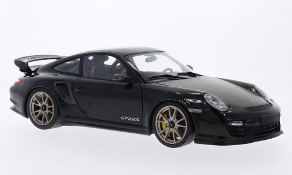 Porsche 997 GT2 1/18 Minichamps noire 2011 miniature