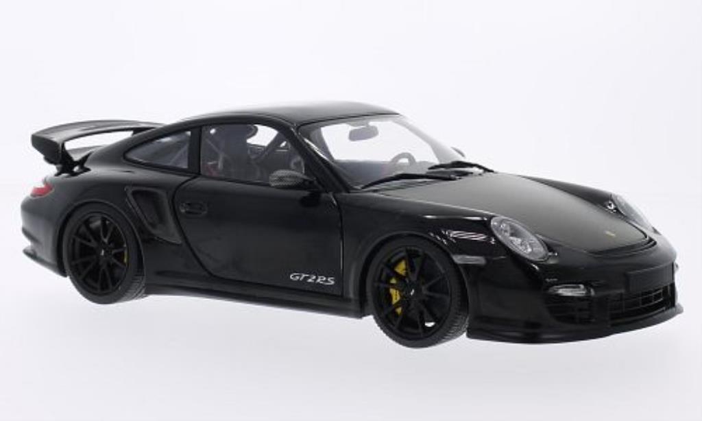 Porsche 997 GT2 1/18 Minichamps noire mit noireen Felgen 2011 miniature