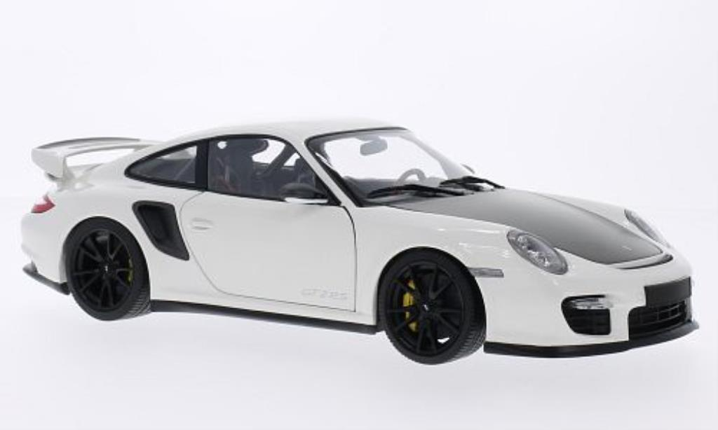Porsche 997 GT2 1/18 Minichamps white mit blacken Felgen 2011 diecast model cars