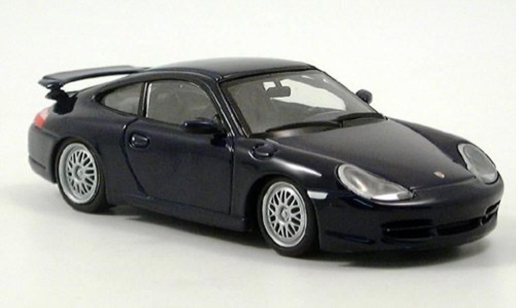 Porsche 996 GT3 1/43 Minichamps bleu 1999 modellino in miniatura