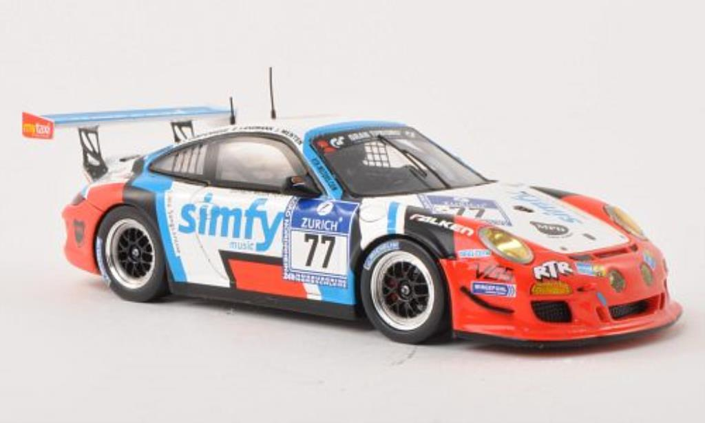 Porsche 991 GT3 Cup 1/43 Spark No.77 Simfy 24h Nurburgring 2013 /S.v diecast model cars