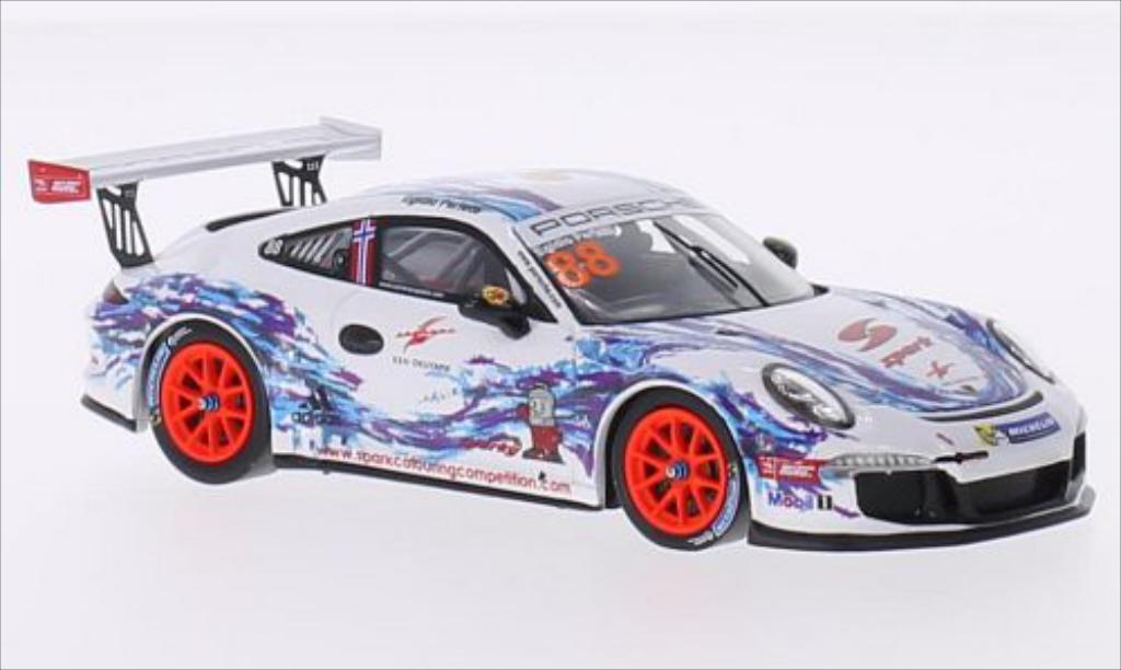 Porsche 991 GT3 Cup 1/43 Spark No.88 Carrera Cup Asia Sepang 2015 diecast model cars