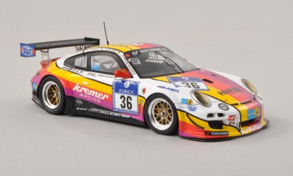 Porsche 997 GT3 1/43 Spark KR No.36 Kremer Racing 24h Nurburgring 2013 /J.Alzen miniature
