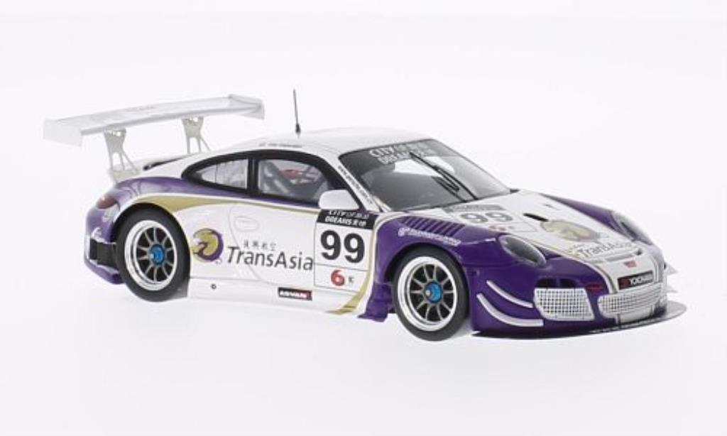 Porsche 991 GT3 R 1/43 Spark 4.0 No.99 Team StarChase City of Dreams Macau GT Cup 2013 miniature