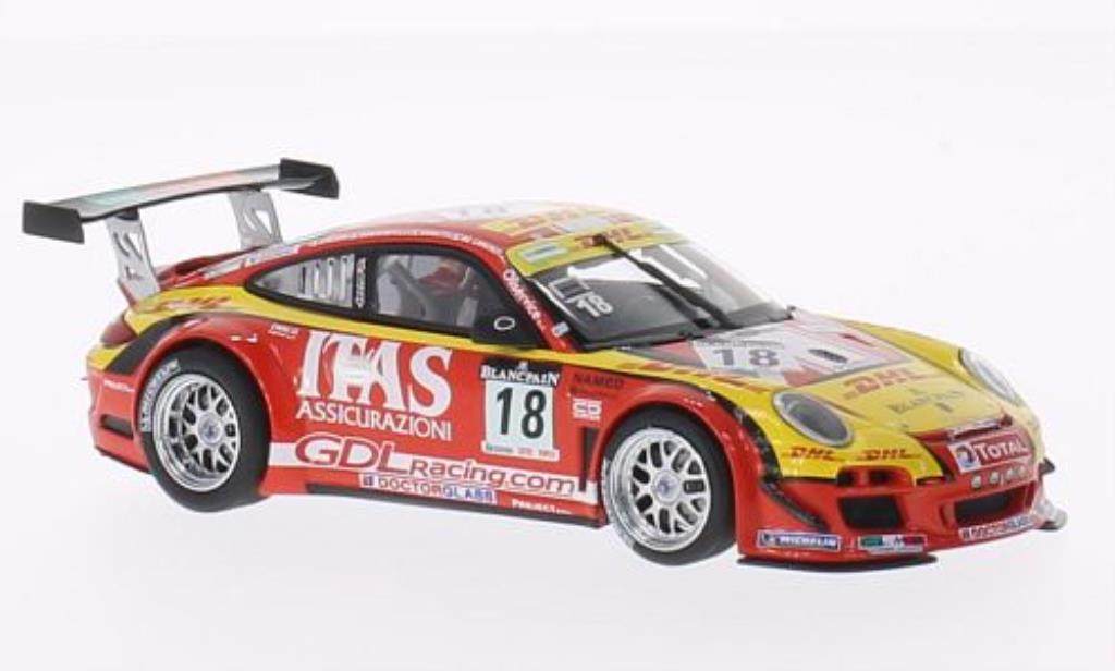 Porsche 997 GT3 1/43 Minichamps R No.18 De Lorenzi Racing 24h Spa 2011 diecast model cars