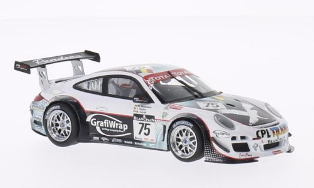 Porsche 997 GT3 1/43 Minichamps R No.75 Prospeed Competition 24h Spa 2011 /Soulet diecast model cars
