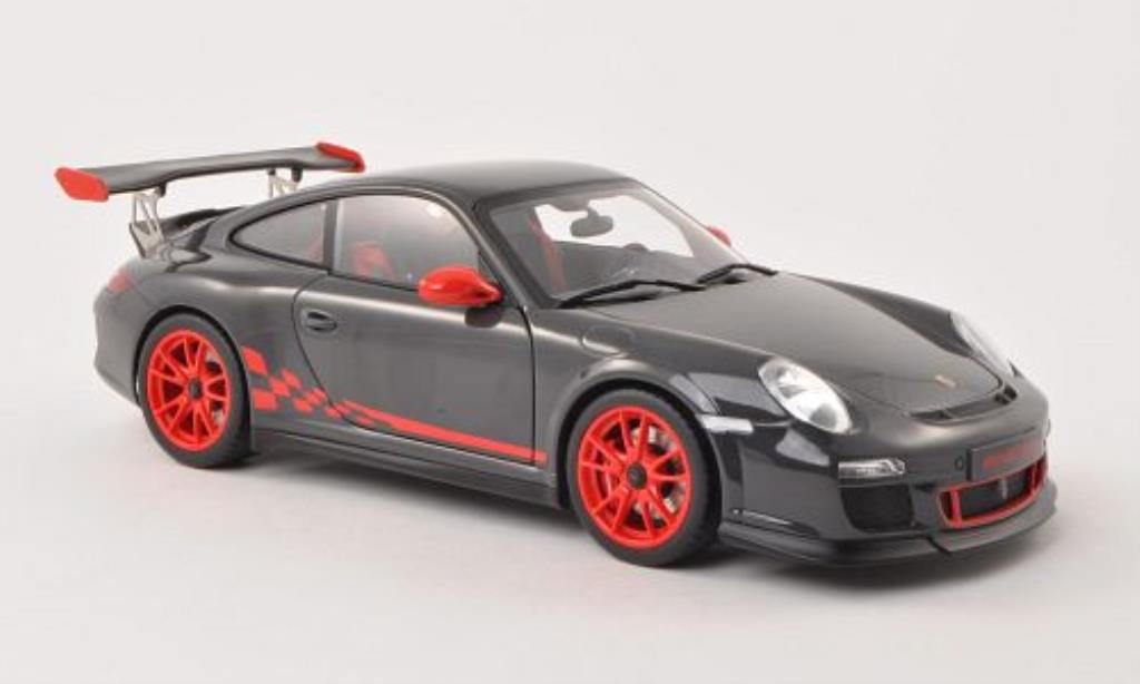 Porsche 997 GT3 1/18 Autoart 3.8 grey/red 2010 diecast model cars