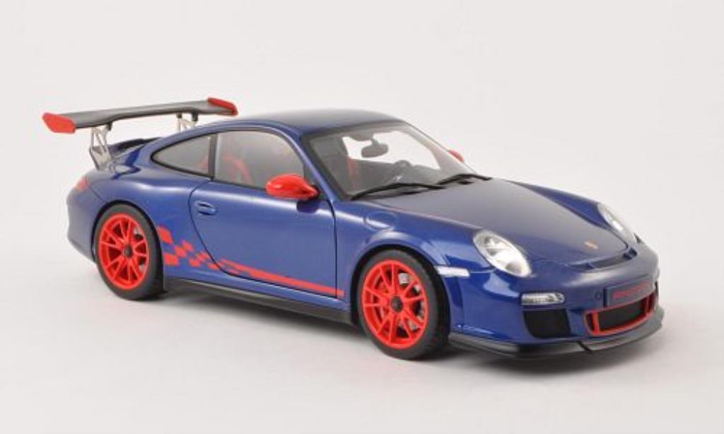 Porsche 997 GT3 1/18 Autoart  3.8 bleu/red 2010 diecast