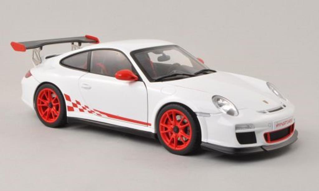 Porsche 997 GT3 1/18 Autoart 3.8 white/red 2010 diecast model cars