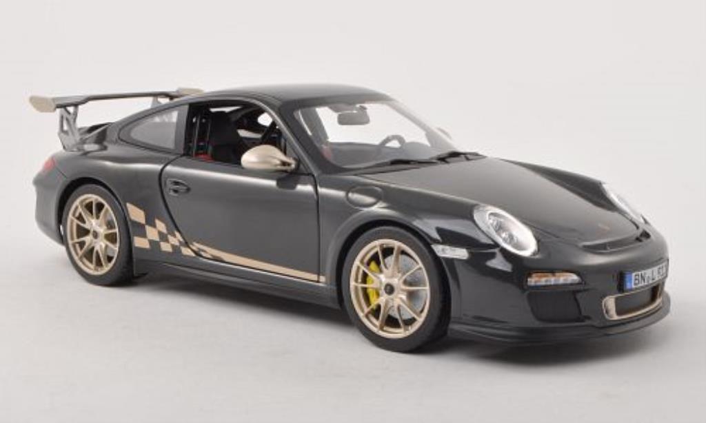 Porsche 997 GT3 1/18 Norev grise/platin 2010 miniature