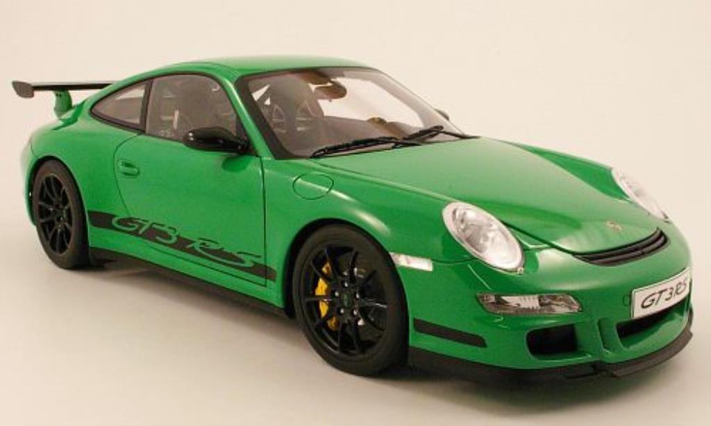 Porsche 997 GT3 1/12 Autoart grun/noire 2006 miniature