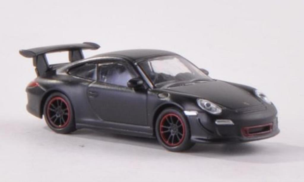 Porsche 997 GT3 1/87 Schuco matt-black diecast model cars