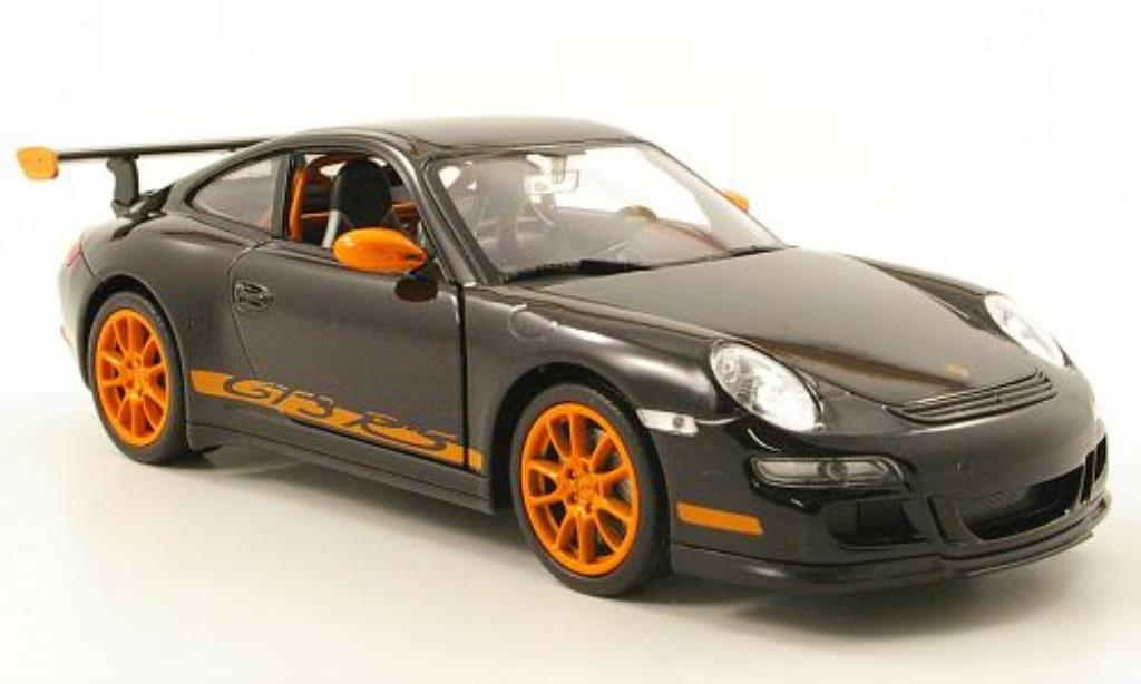 Porsche 997 GT3 1/24 Welly black diecast model cars