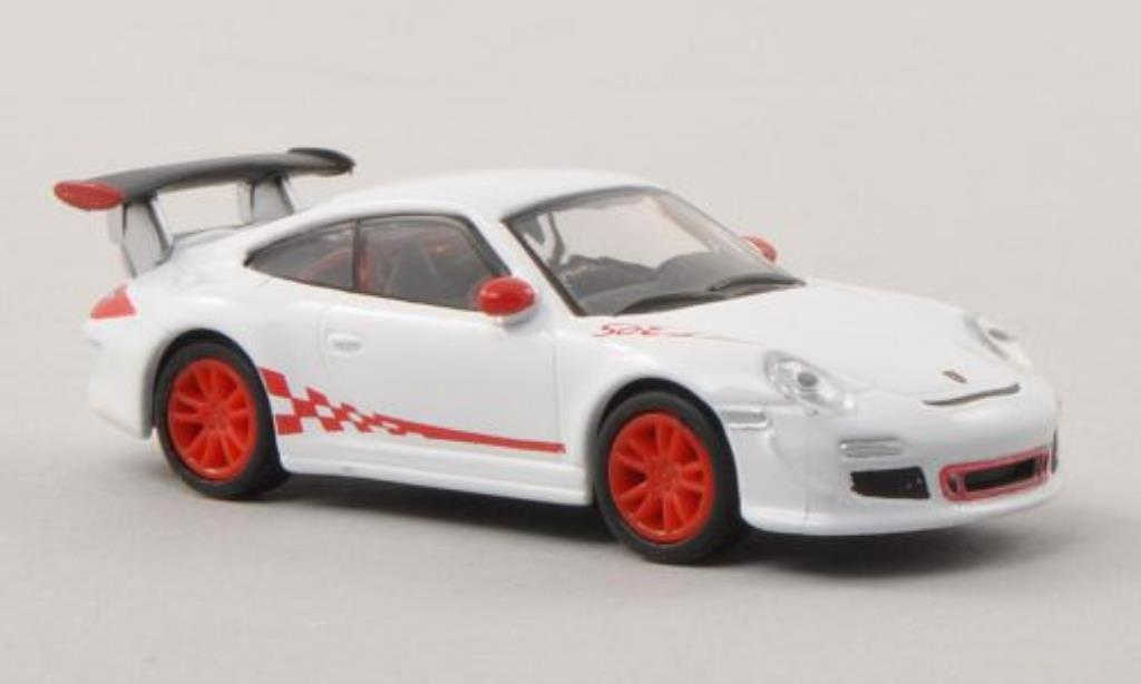 Porsche 997 GT3 1/87 Schuco white/red diecast model cars