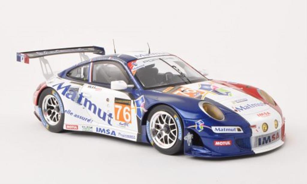Porsche 997 GT3 1/18 Spark R No.76 24h Le Mans 2013 /R.Narac miniature