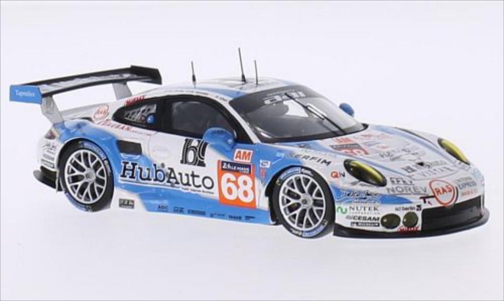 Porsche 991 GT3 R 1/43 Spark No.68 Team AAI HubAuto 24h Le Mans 2015 miniature