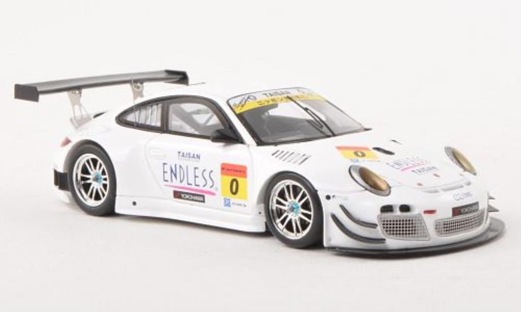 Porsche 997 GT3 1/43 Ebbro R No.0 Taisan Endless Super 00 Testfahrzeug Okayama 2013 /N.Yokomizo miniature