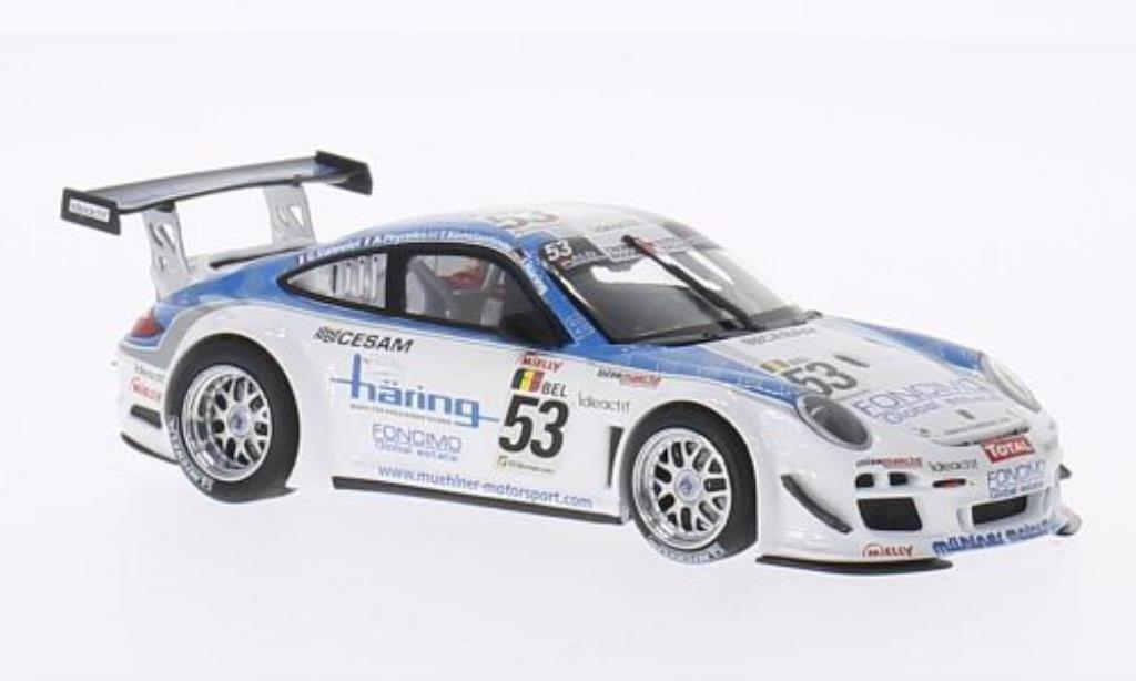 Porsche 997 GT3 1/43 Minichamps R No.53 Muhlner Motorsport 24h Spa 2010 /J.Haring miniature